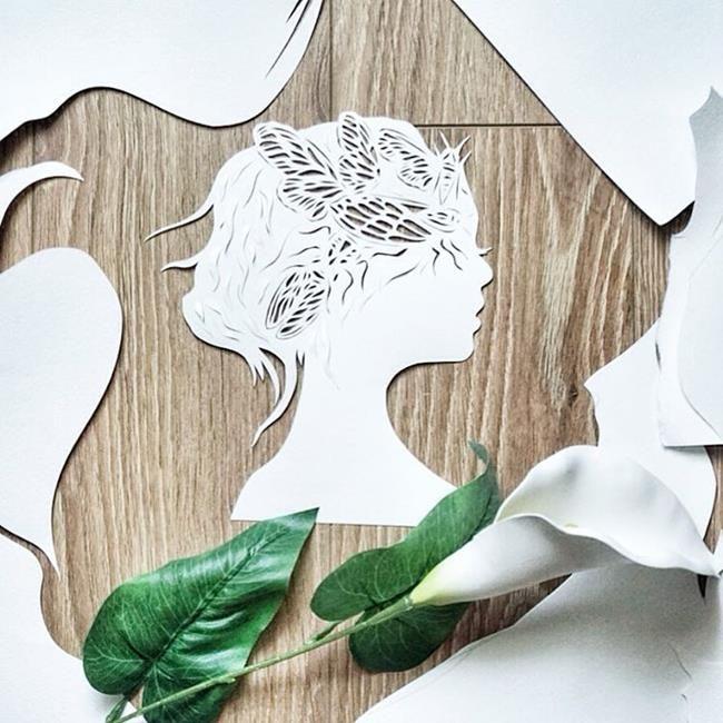Kağıt Kesme Sanatıyla Moda İllüstrasyonları Tasarlayan Sanatçı: 'Eugenia Zoloto' Sanatlı Bi Blog 29