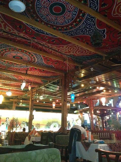 Bedouin / hippie /Egyptian / Beach restaurant on the red sea in Dahab, Egypt