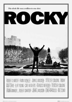 this poster shows the film is about hard work and it could be an inspirational film, the black and white make it look like an old photo as if to say it could go down in history.