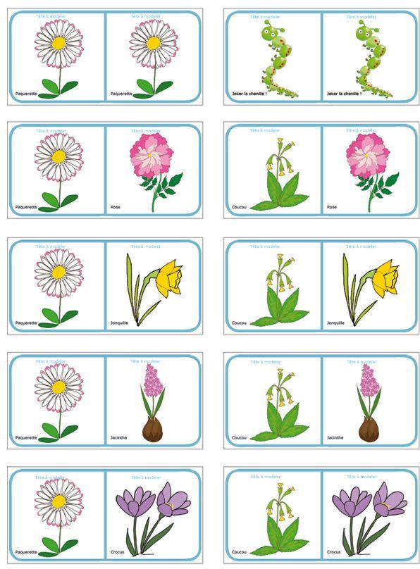 Dominos des fleurs de printemps et d 39 t planche 10 - Activite manuelle jardinage ...
