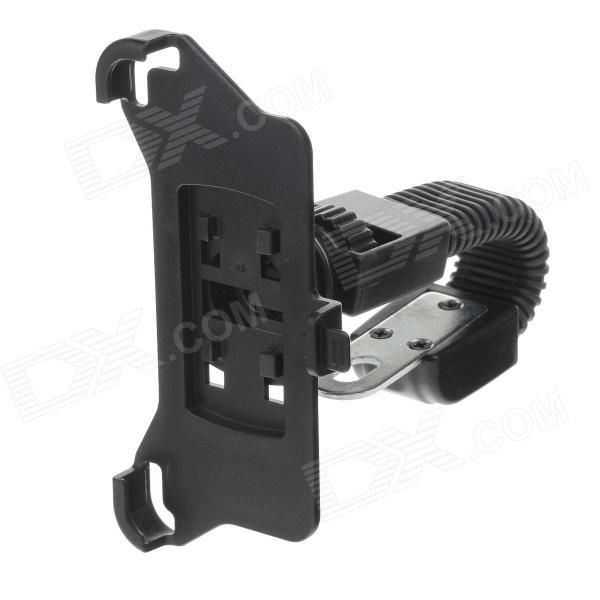 Brand: N/A; Model: M08; Quantity: 1 Piece; Color: Black; Material: ABS; Style: Car Mount; Compatible Models: Iphone 5; Adjustable Degree: 360 degree rotatable; Other Features: Can be rotated 360 degrees; Easy to install and convenient to use; Made of rigid plastic durable; Applicable to scooter can placed Iphone 5; Packing List: 1 x Bracket 1 x Back clamp; http://j.mp/1vnX7r8