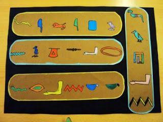 Muovi: Egyptian hieroglyfit