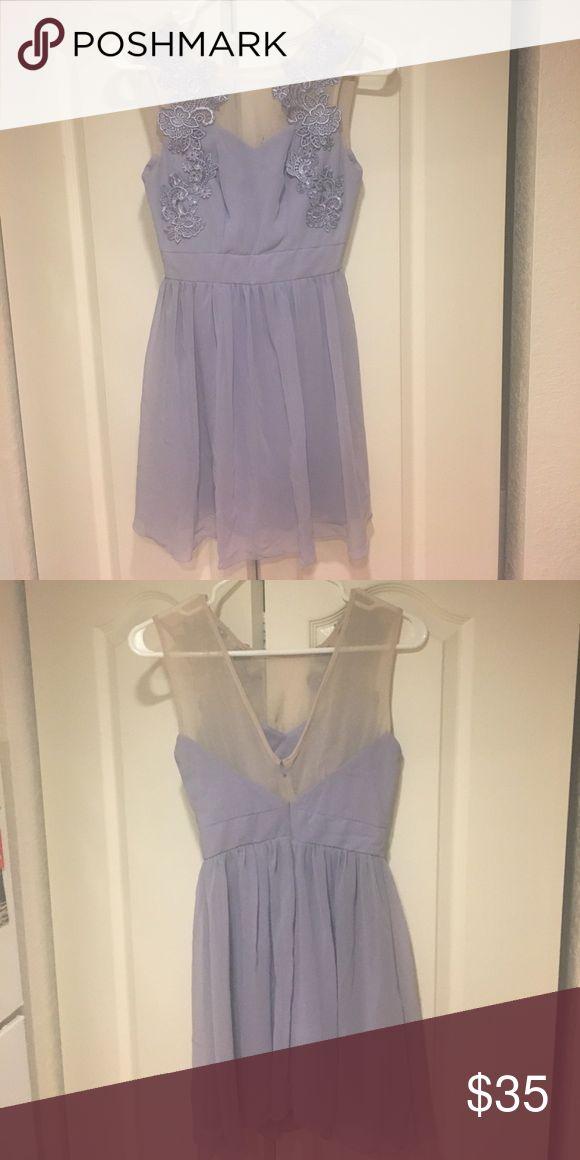 ASOS party dress Petite sizing, lavendar, worn once. Super feminine and cute for a sorority recruitment! ASOS Petite Dresses Mini