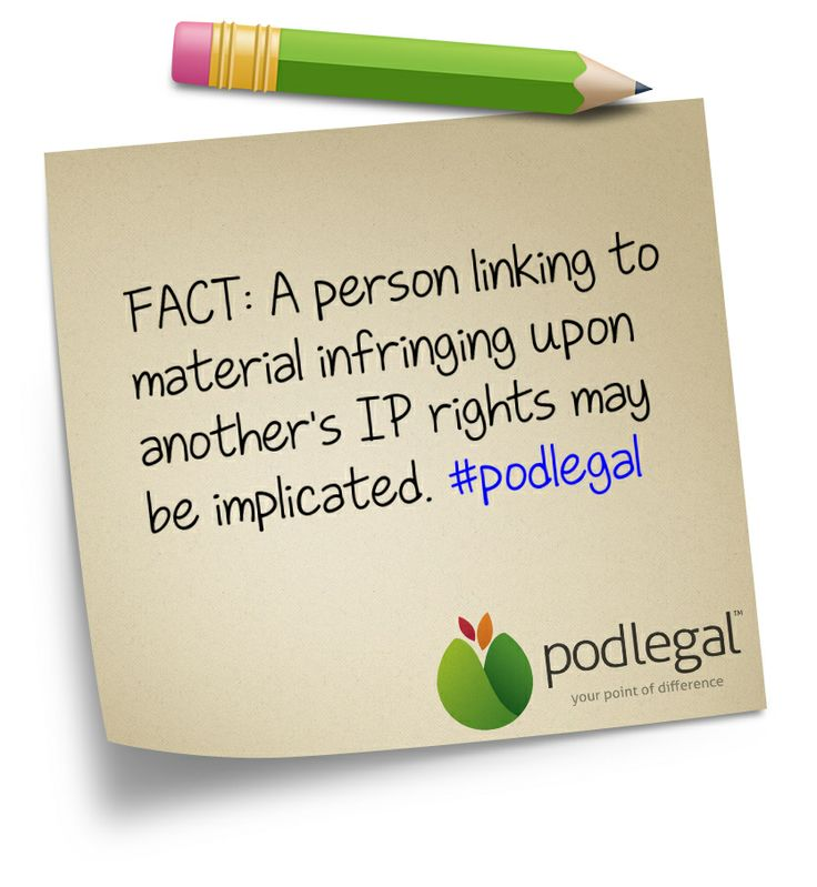STICKY NOTE: Linking to third party content #IP #copyright #trademark #infringement #podlegal