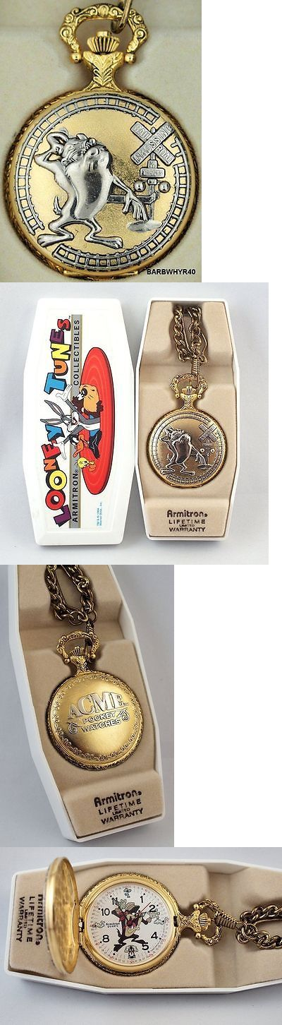 Other Pocket Watches 398: Tazmanian Devil Railroad Pocket Watch W/ Two Tone Acme Case In Original Box BUY IT NOW ONLY: $85.0