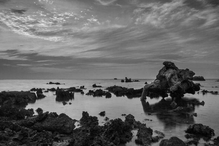 "Simbokku pancen embuh... Surup-surup pitik e durung mlebu kandang digawe panik. Anak lanang durung mulih tekan isuk dijarke wae!? #eaaa  @budislankcooters - Landscape Photography.  Loc: Beach Bandengan Jepara Central Java Indonesia.  Camera: Canon EOS 7D. Focal Length: 18.0 mm. White Balance : Auto. Aperature: 22.0 Exposure time: 8"" Iso: 200  #exploretirtosamudro #pesonabandengan #visitjepara #indonesia_photography #instanusantara"