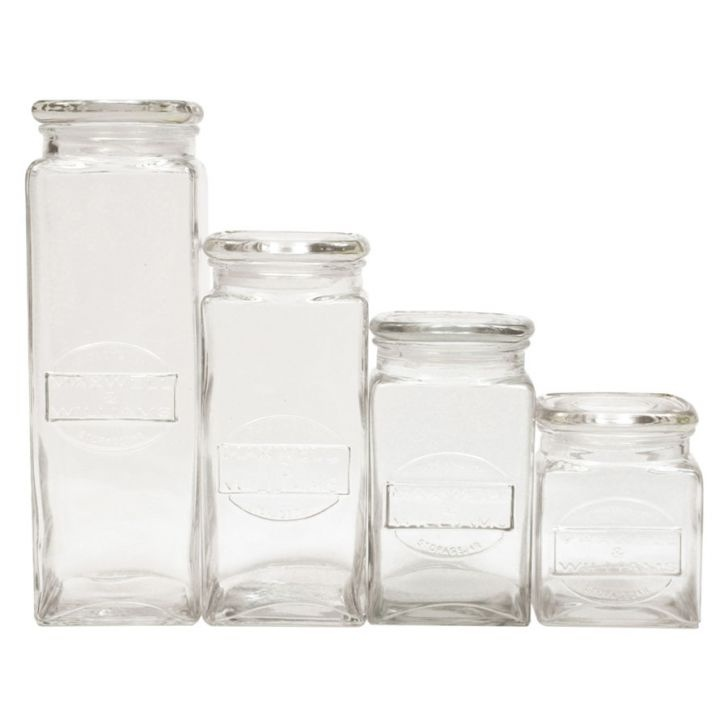 4-Piece Olde English Storage Jar Set