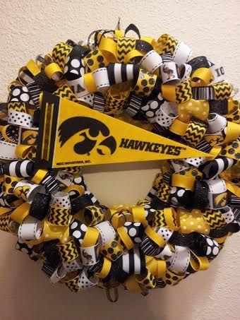 Iowa Hawkeye Wreath School Spirit And Sport Wreaths