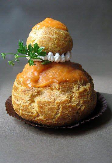 Religieuse salée : recette de religieuse salée au homard - Recette sucré salé : recettes détournées
