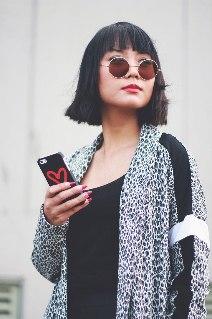 #ilovefashionbloggers #heart iphone5s #iphonecase #animalprint #bobline #bangs #asian #ohmaygod ohmaygod.com
