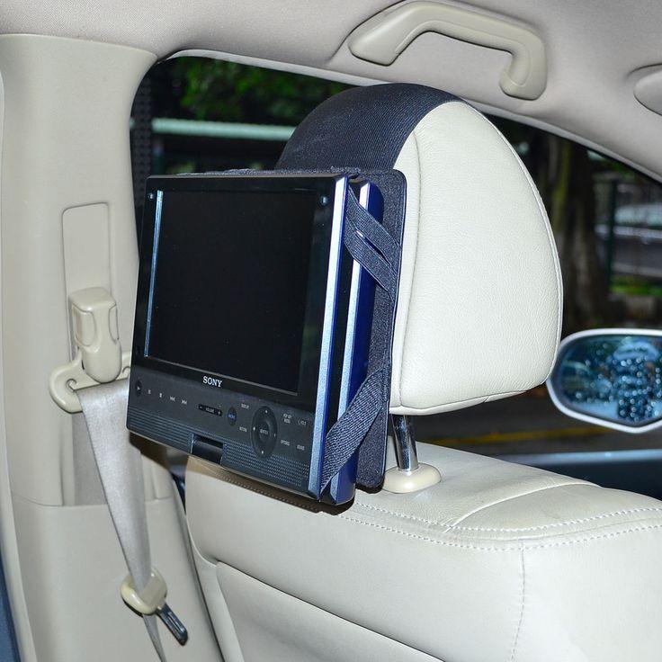 9 Inch Swivel & Flip Style Portable DVD Player New Car Headrest Mount Holder