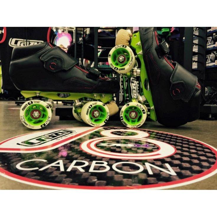The latest skate boots from crazy ,Carbon Fibre and super light,,, visit us derbyskates.com.au