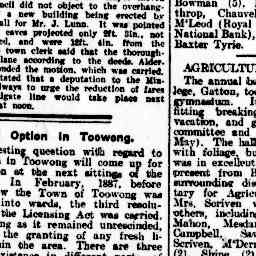 "09 Jun 1906 - The Brisbane Courier Article ""Local Option in Toowong"" about Albert Bryett (Craig's great-great-grandfather) asking the Mayor of Toowong to consider a petition regarding the proposed opening of a 4th pub in the North Ward of Toowong - with the matter being referred to the full court for hearing."