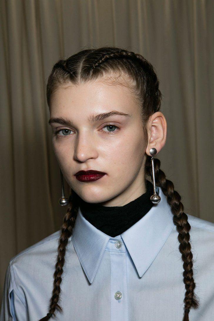 Pin for Later: Les 10 Moments Beauté Qui ont Fait le Buzz à la Fashion Week de New York Tresses de Boxeuses Chez Creatures of the Wind
