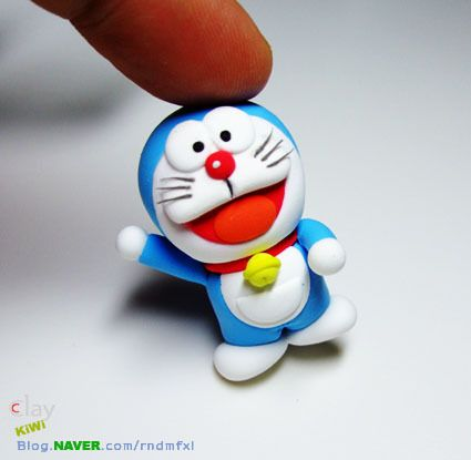 Doraemon clay tutorial