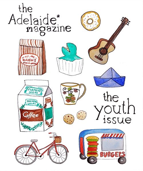 The winner of our 2013 Youth Issue cover design competition was 15 year old Annabel Short. See her work on the cover of today's mag. Clever lass. #Adelaide