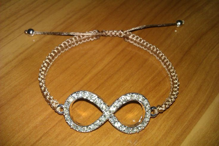 Infinity rhinestone macrame bracelet by CC Bracelets