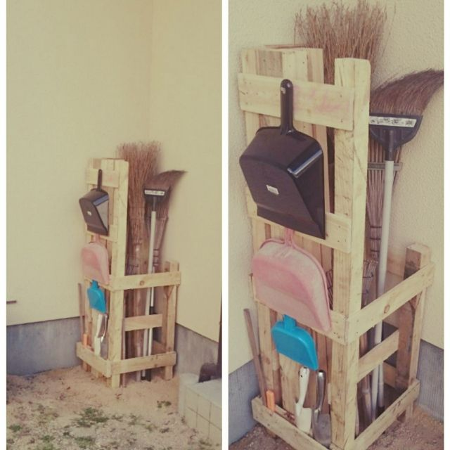 YamaguchiYukinoさんの、玄関/入り口,DIY,玄関まわり,廃材利用,掃除道具収納,道具入れ,のお部屋写真