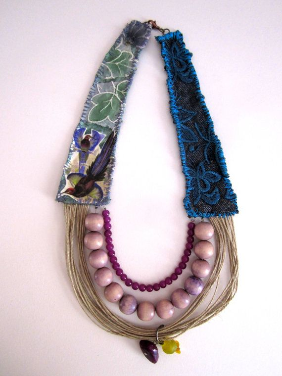 Multistranded boho necklace String necklace by catyflowerpower, $35.00
