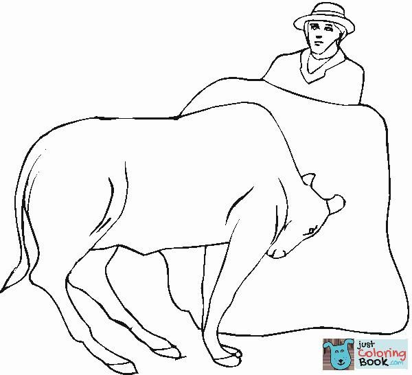 Bullfighter And Bull Coloring Page Free Printable Coloring In Toreador And Bull Coloring Pages Coloring Pages Bull Bull Pictures