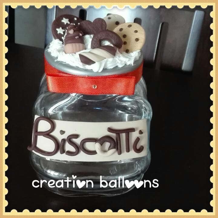 Barattolo biscotti fimo&silicone https://www.facebook.com/CreationBalloons/?ref=aymt_homepage_panel&hc_location=ufi