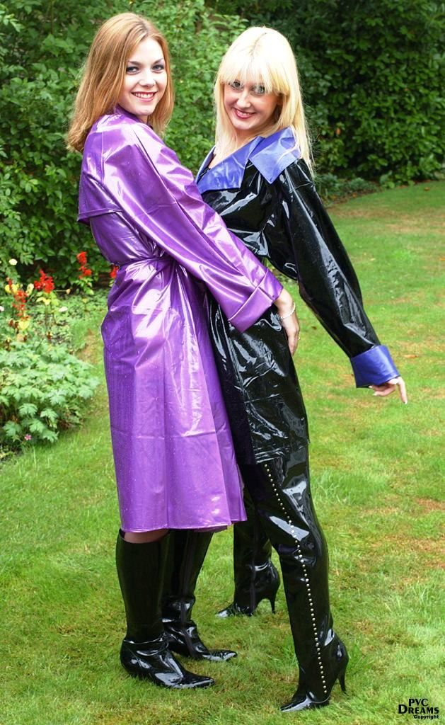 in and Lesbian pvc rubber