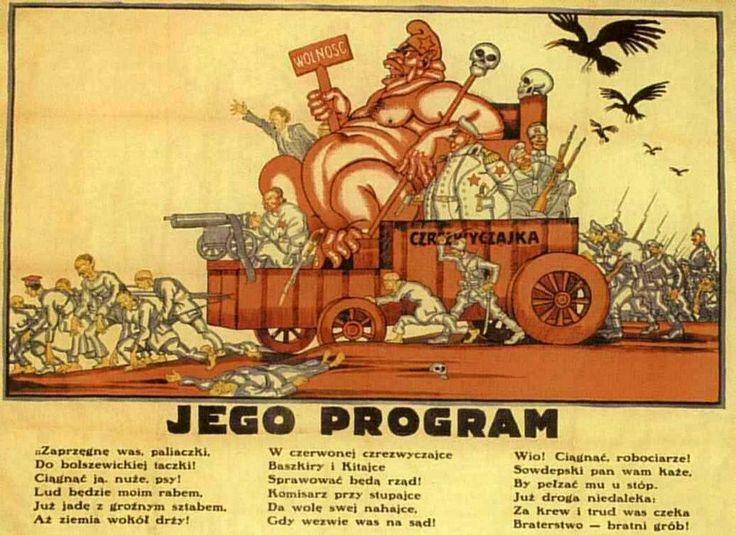 """""""His (Bolshevik) program"""" - Polish propaganda poster."""