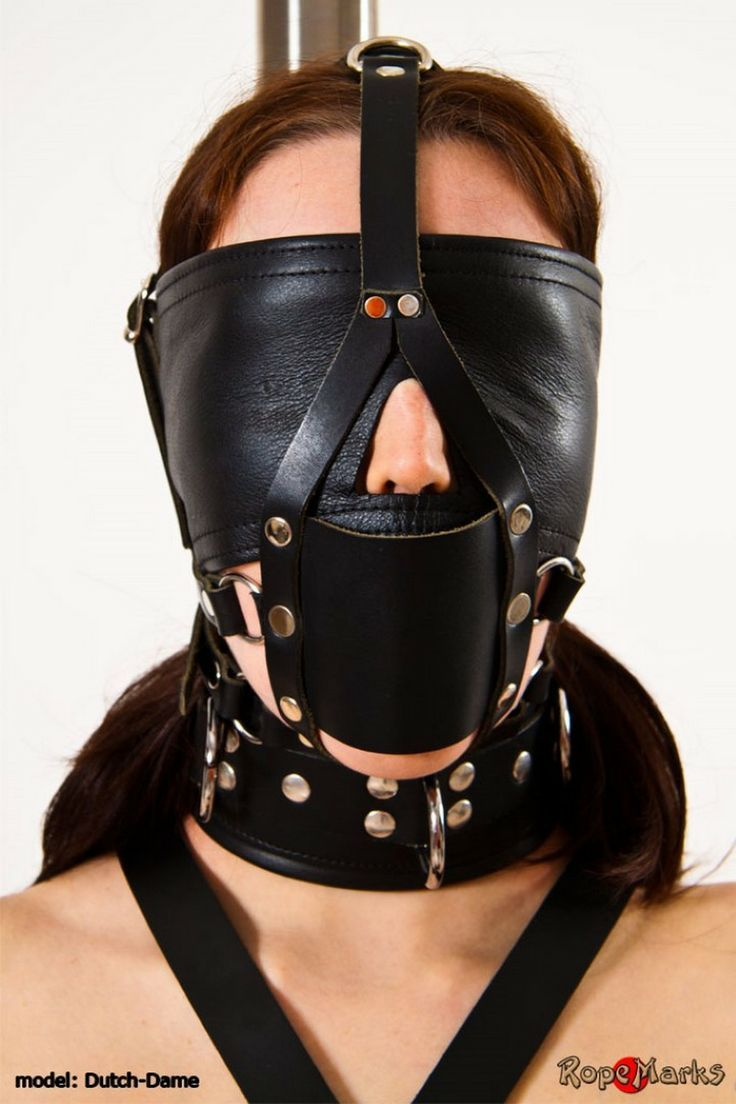 bondage leather mask
