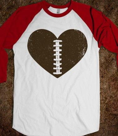 Football Heart - Sports Fun - Skreened T-shirts, Organic Shirts, Hoodies, Kids Tees, Baby One-Pieces and Tote Bags Custom T-Shirts, Organic Shirts, Hoodies, Novelty Gifts, Kids Apparel, Baby One-Pieces   Skreened - Ethical Custom Apparel