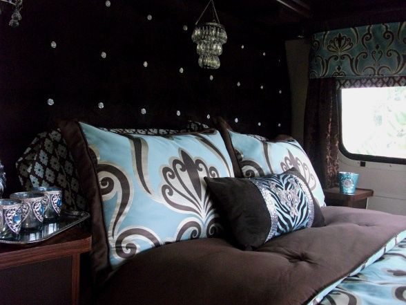 DIY Glam RV Remodel with Tufted Wall - Other Space Designs - Decorating Ideas - Rate My Space