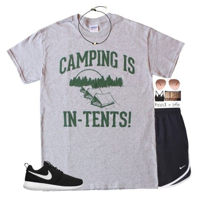 """""""going camping Memorial Day weekend!! I'm pumped!"""" by lydia-hh ❤ liked on Polyvore featuring NIKE"""