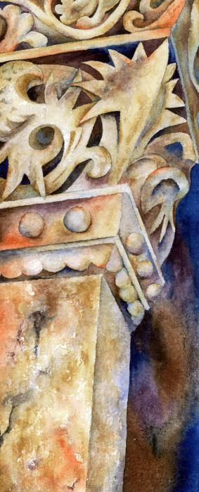 Beautiful architectural detail in #watercolour 'Steadfast' by Winona Steunenberg - http://fineartamerica.com/featured/steadfast-winona-steunenberg.html … @fineartamerica #architecture #art