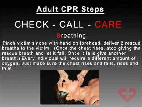 Adult CPR 2010 guidelines training video following new 2010 guidelines CAB method How to CPR Video