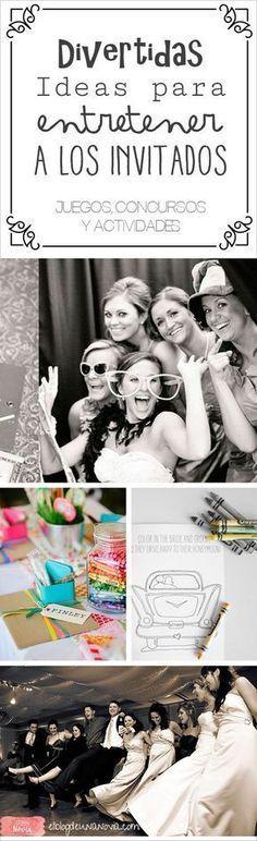 Organiza actividades y juegos para entretener a los invitados de tu boda.