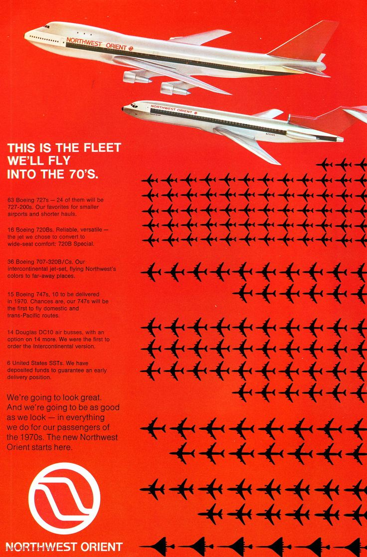 Vintage Airline Aviation and Aerospace Ads - northwest-orient-airlines_AD.jpg - Magazine Advertisement Picture Scans