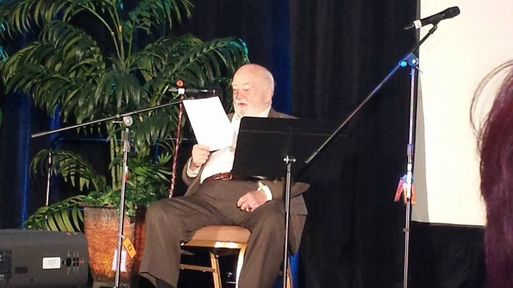 Ed Asner at opening keynote for VOICE2014