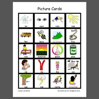 Picture Cards Minimal pairs s V z - Pinned by @PediaStaff ...