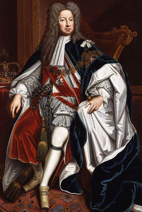 Looking back: The German-born George I, the first Hanoverian king of Great Britain, acceded to the throne in 1714
