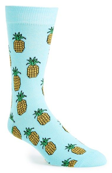 Topman+Pineapple+Pattern+Socks+available+at+#Nordstrom