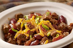 BBQ Steakhouse Chili recipe -This hearty BBQ Steakhouse Chili is made with