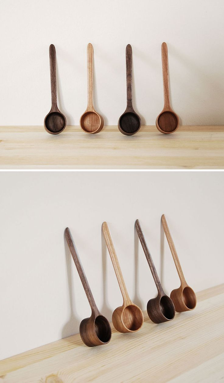 Coffee Scoops - Walnut and Cherry by Mitsugu Morita