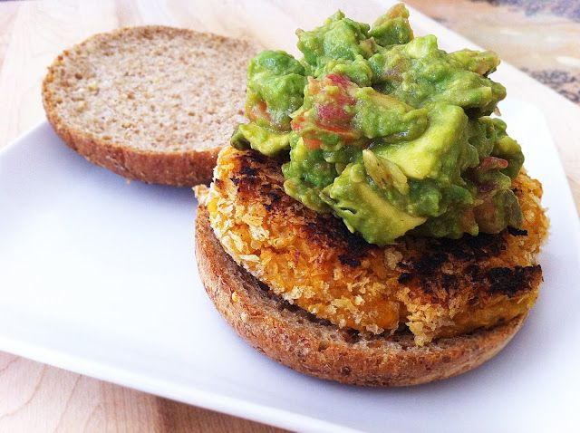 Made to Create: Chipotle Quinoa Sweet Potato Burgers with Crunchy ... Make your own guac and put the sweet potato, quinoa, and bean mix in the fridge for a bit before making the patties