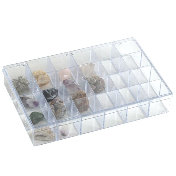 Enjoy free shipping on all purchases over $75 and free in-store pickup on the 24-Compartment Clear Box at The Container Store. Our Clear Compartment Boxes are made of commercial, crystal clear polystyrene for the ultimate in visible storage and durability.  They're the perfect solution for small tools and sewing notions, craft and hobby supplies, hardware and electronic parts.  The compartment dividers extend to the top of the box to keep each cell's contents in place.  They are avail...
