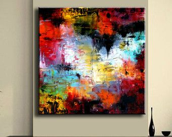 Abstract Painting Contemporary Wall Art by ModernArtHomeDecor