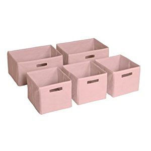 Amazon.com: Guidecraft Pink Storage Bins - Set of 5 G85709: Baby