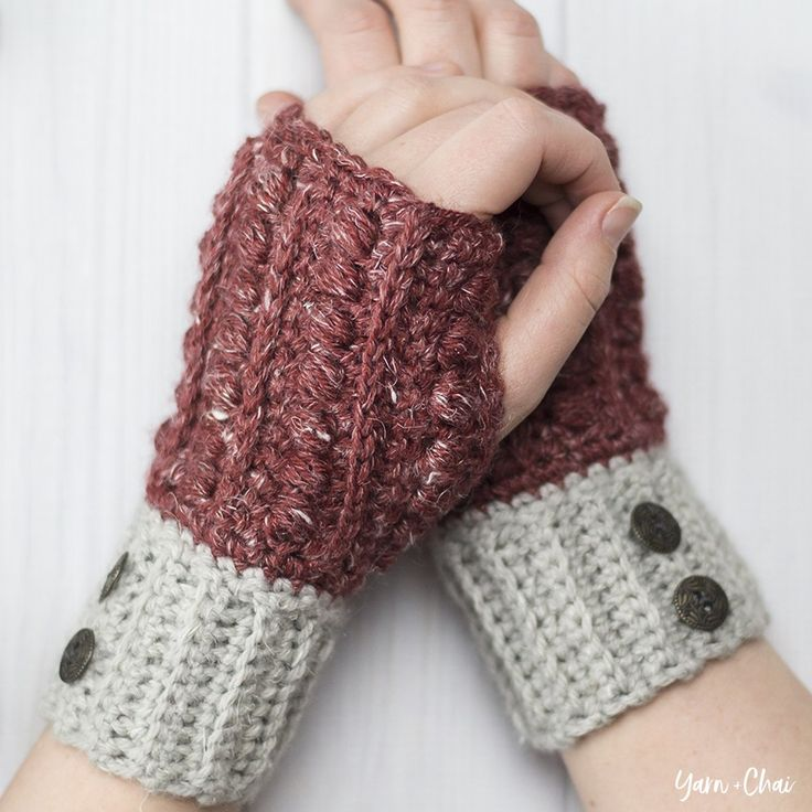 This pattern is part of the Fall 2017 Malia CAL (Crochet-Along). To view the other patterns in this collection, please visit the Malia CAL Homepage. Wrist warmers (or wristers, or fingerless gloves, or fingerless mitts) are a great way to keep your hands warm without taking away your ab