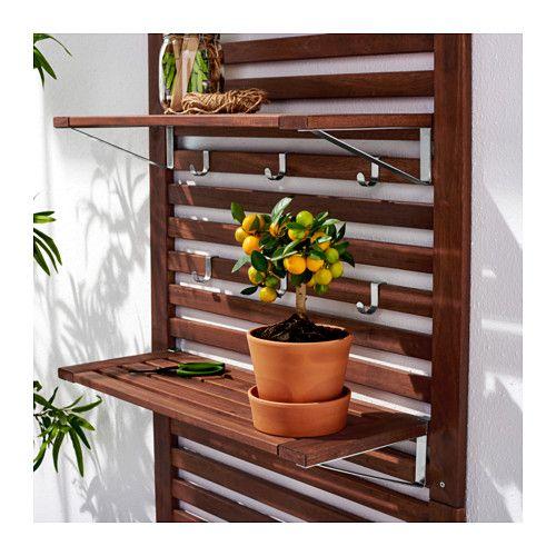 ÄPPLARÖ Wall panel+2 shelves, outdoor  - IKEA