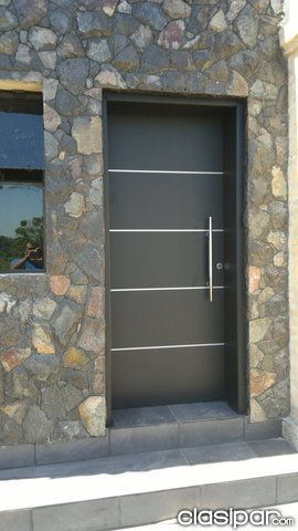 21 best images about ideas puertas on pinterest for Puertas metalicas modernas