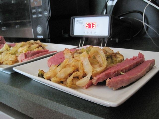 Corned beef cooked with sous vide results in a great texture for the meat.  It is also much juicier and more flavorful than many corned beefs. - Amazing Food Made Easy