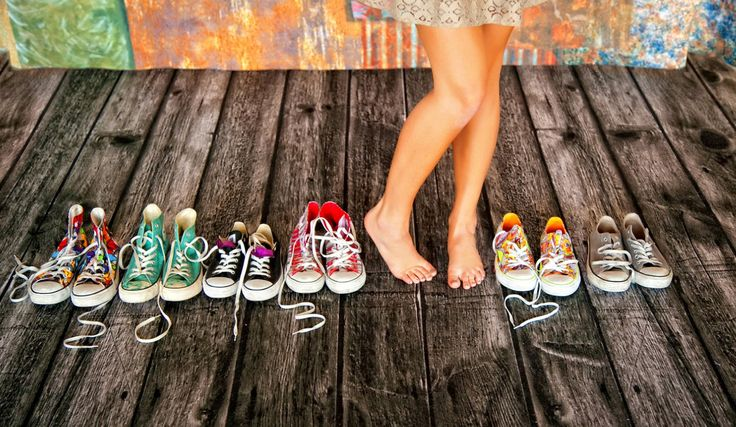 Senior pictures- also use different kinds of shoes for different activities... dance, sports, dress shoes, etc...